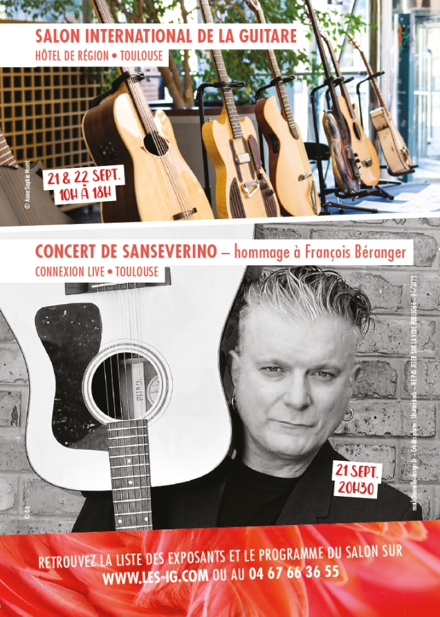 VERSO CARTE POSTALE SALON GUITARE 2019